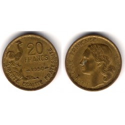 (917.1) Francia. 1950. 20 Francs (MBC-)