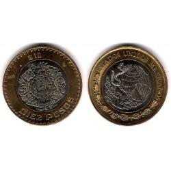 (616) Estados Unidos Mexicanos. 2010. 10 Pesos (EBC+)