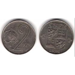 (148) Checoslovaquia. 1991. 2 Koruny (MBC+)