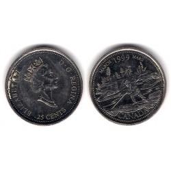 (344) Canadá. 1999. 25 Cents (SC)