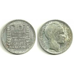 (878) Francia. 1932. 10 Francs (MBC) (Plata)
