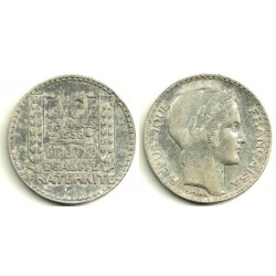 (878) Francia. 1938. 10 Francs (MBC) (Plata)