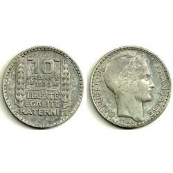 (878) Francia. 1930. 10 Francs (MBC) (Plata)