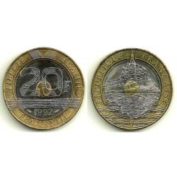 (1008.1) Francia. 1992. 20 Francs (EBC)