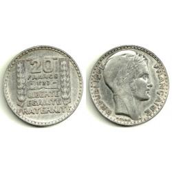 (879) Franca. 1933. 20 C (EBC) (Plata)