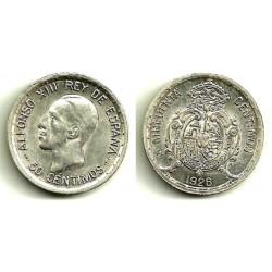 Alfonso XIII. 1926. 50 Céntimos (EBC+) (Plata) Ceca de Madrid PC-S