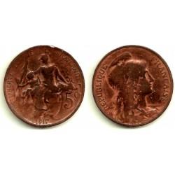 (842) Francia. 1917. 5 Centimes (RC)