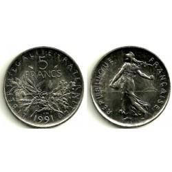 (926a.1) Francia. 1991. 5 Francs (SC)