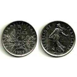 (926a.1) Francia. 1987. 5 Francs (EBC)