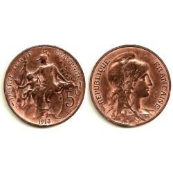 (842) Francia. 1913. 5 Centimes (BC)