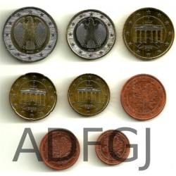 Alemania. 2008(ADFGJ). Serie Completa (x5) (SC)