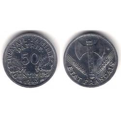 (914.1) Francia. 1943. 50 Centimes (EBC)