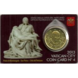 Ciudad del Vaticano. 2013. Coincard 50 Céntimos (SC) Nº 4