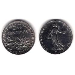 (854) Francia. 1916. 50 Centimes (EBC+) (Plata)
