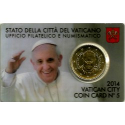 Ciudad del Vaticano. 2014. Coincard 50 Céntimos (SC) Nº 5