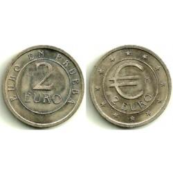 España. 1998. 2 Euro (SC) Prueba Churriana