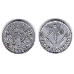 (914.1) Francia. 1943. 50 Centimes (BC+)