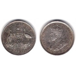 Australia. 1920. 6 Pence (EBC) (Plata)