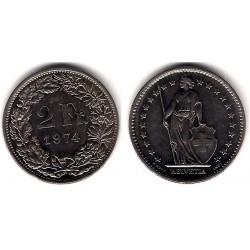 (21a.1) Suiza. 1974. 2 Francs (MBC)