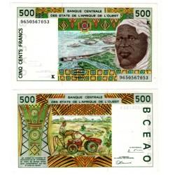 (710Kf) Estados África Oeste. 1996. 500 Francs (SC)