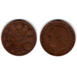 (532) Portugal. 1882. 10 Reis (MBC-)