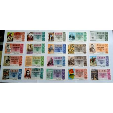 Loteria Nacional. 1980. Año Completa (50 Décimos). La Prensa