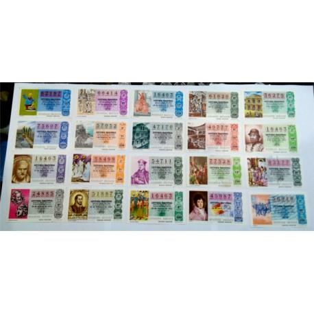 Loteria Nacional. 1981. Año Completo (50 Décimos). El Teatro