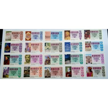 Loteria Nacional. 1983. Año Completo (50 Décimos)