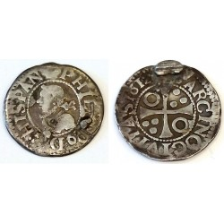 Felipe III. 1612. ½ Real (BC-) (Plata) Ceca de Barcelona