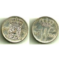 (48) Países Bajos. 1826(B). 25 Cents (MBC+)