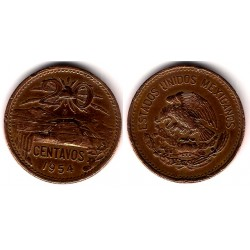 (439) Estados Unidos Mexicanos. 1954. 20 Centavos (BC-)