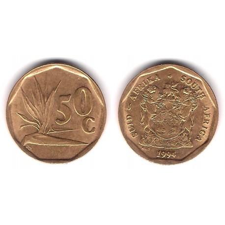 (137) Sudáfrica. 1994. 50 Cents (EBC)