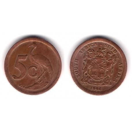 (134) Sudáfrica. 1994. 5 Cents (BC)