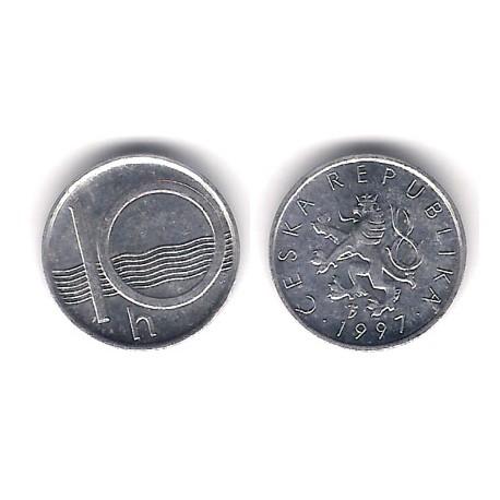 (6) República Checa. 1997. 10 Haleru (EBC)