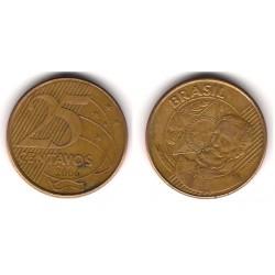 (650) Brasil. 2006. 25 Centavos (MBC-)