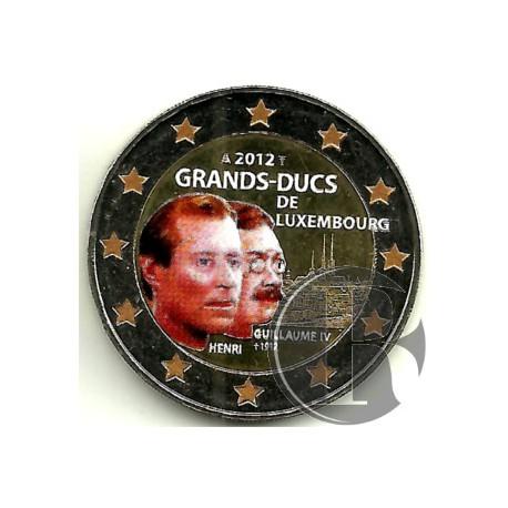 Luxemburgo. 2012. 2 Euro (SC) Coloreada