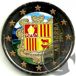 Andorra. 2014. 2 Euro (SC) Coloreada