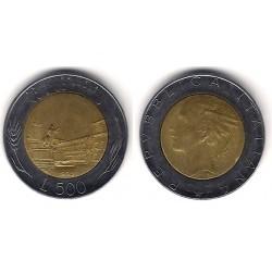 (111) Italia. 1990(R). 500 Lira (MBC)
