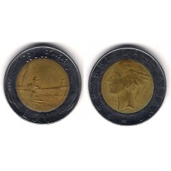 (111) Italia. 1986(R). 500 Lira (BC)