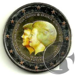 Países Bajos. 2013. 2 Euro (SC) Coloreada