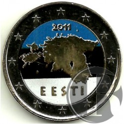 Estonia. 2011. 2 Euro (SC) Coloreada