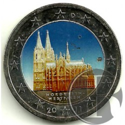 Alemania. 2011(D). 2 Euro (SC) Coloreada