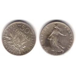 (854) Francia. 1919. 50 Centimes (MBC) (Plata)