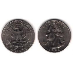 (A164a) Estados Unidos de América. 1998(D). Quarter Dollar (MBC)
