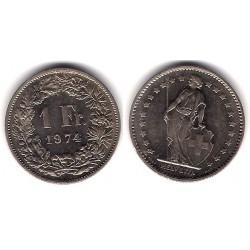 (24a.1) Suiza. 1974. 1 Franc (EBC)