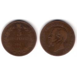 (3.3) Italia. 1862(N). 5 Centesimi (BC-)