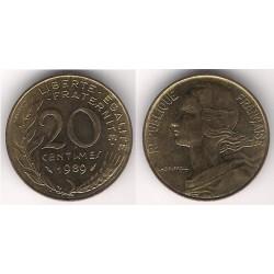 (930) Francia.  1989. 20 Centimes (EBC)