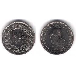 (23a.1) Suiza. 1974. ½ Franc (EBC)