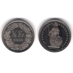 (23a.3) Suiza. 1990. ½ Franc (SC)
