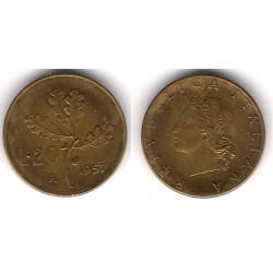 (97.1) Italia. 1957(R). 20 Lira (MBC)